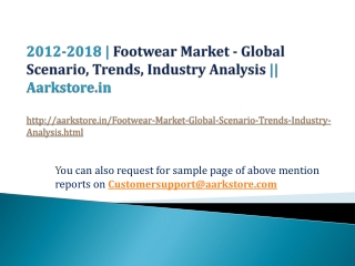 �Footwear Market - Global Scenario, Trends, Industry Analysi
