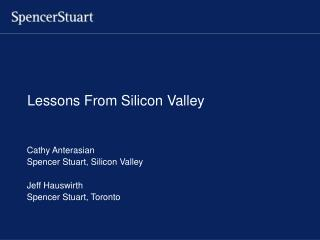 Lessons From Silicon Valley