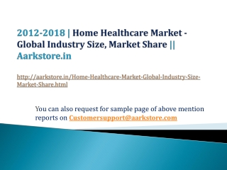 Home Healthcare Market - Global Industry Size, Market Share