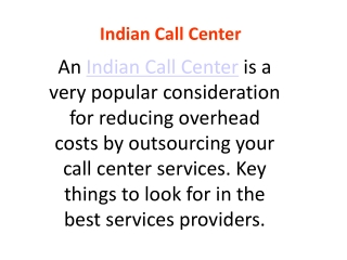 Why Indian Call Centers are best?