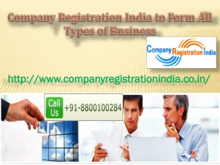 Company Registration India to Form All Types of Business