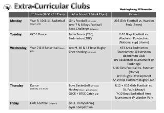 Extra-Curricular Clubs