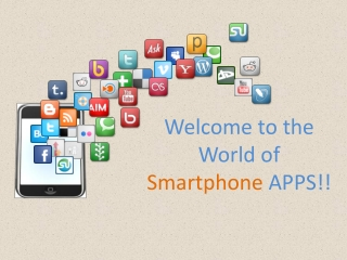 Welcome to the world of smartphone apps!!