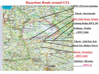 Hazardous Roads around GTA