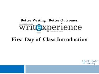 Better Writing.  Better Outcomes.