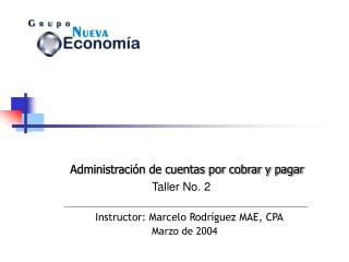 Instructor: Marcelo Rodr guez MAE, CPA