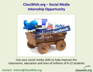 ClassWish   Social Media  Internship Opportunity