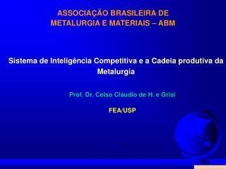 ASSOCIA  O BRASILEIRA DE  METALURGIA E MATERIAIS   ABM