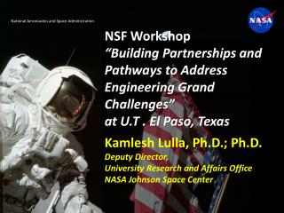 NSF Workshop  Building Partnerships and Pathways to Address Engineering Grand Challenges   at U.T . El Paso, Texas
