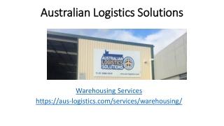 Warehousing Brisbane