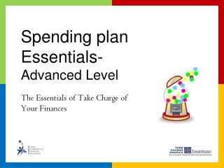 Spending plan Essentials-  Advanced Level