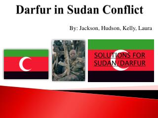 Darfur in Sudan Conflict