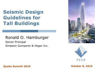 Seismic Design Guidelines for  Tall Buildings