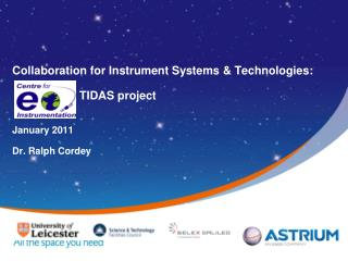 Collaboration for Instrument Systems  Technologies:                                           TIDAS project    January 2