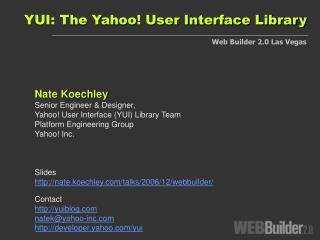 YUI: The Yahoo User Interface Library
