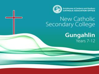 New Secondary Catholic College Gungahlin Years 7   12