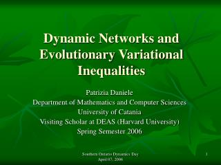 Dynamic Networks and Evolutionary Variational Inequalities