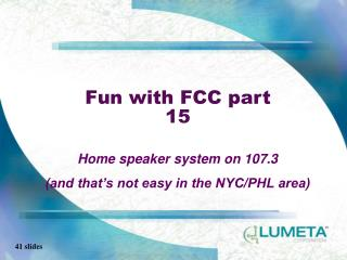 Fun with FCC part 15
