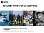 SECURITY AND DEFENCE SOLUTIONS