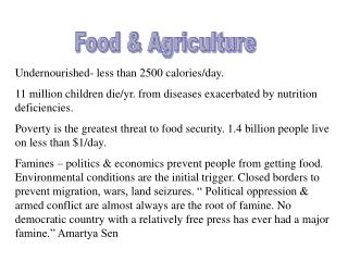 Food  Agriculture