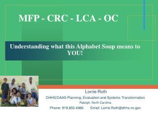 MFP - CRC - LCA - OC