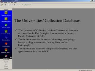 The Universities  Collection Databases