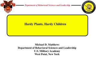 Hardy Plants, Hardy Children