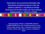 Description de la pharmacoth rapie des d sordres phosphocalciques chez les patients atteints d  insuffisance r nale chro