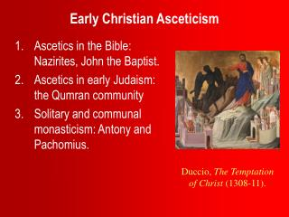 Early Christian Asceticism