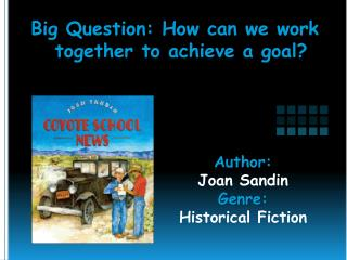 Author:   Joan Sandin Genre:  Historical Fiction