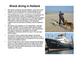 Wreck diving in Holland