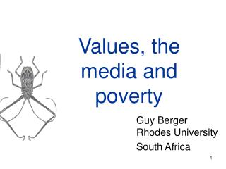 Values, the media and poverty