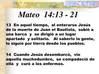 Mateo  14:13 - 21