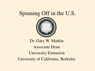 Spinning Off in the U.S.