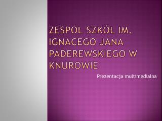 ZESP L SZK L Im.  IGNACEGO JANA PADEREWSKIEGO W KNUROWIE