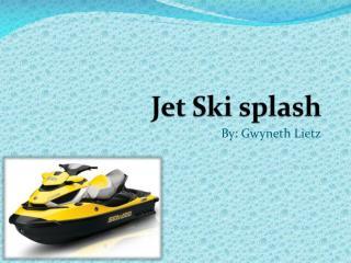 Jet Ski splash