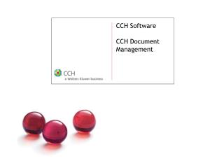 CCH Software  CCH Document Management