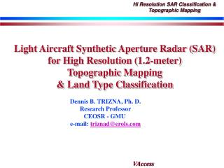 Hi Resolution SAR Classification  Topographic Mapping