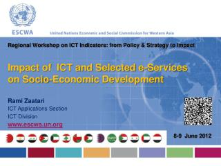 Impact of  ICT and Selected e-Services on Socio-Economic Development
