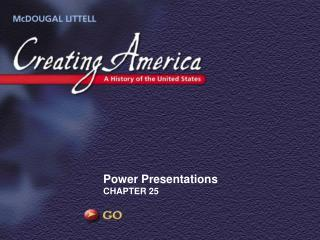 Power Presentations CHAPTER 25