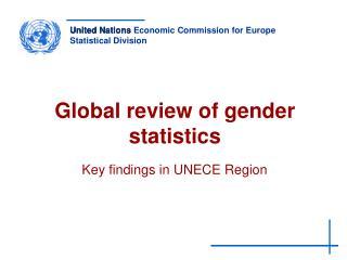 Global review of gender statistics