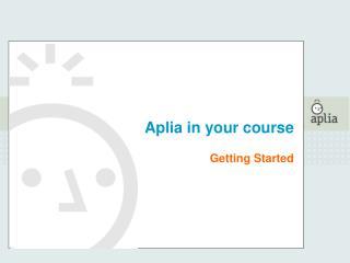 Aplia in your course