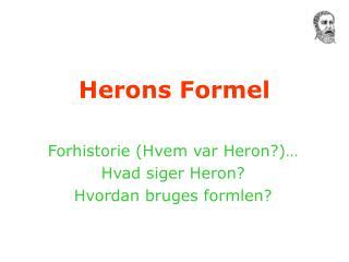 Herons Formel