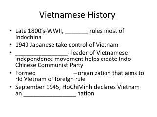 Vietnamese History