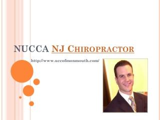 NUCCA NJ Chiropractor