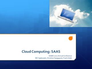 Cloud Computing: SAAS