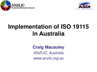 Implementation of ISO 19115 in Australia