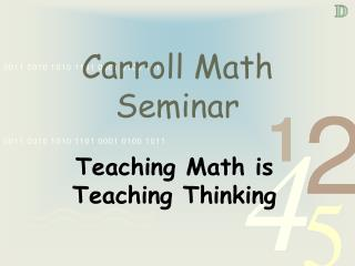 Carroll Math Seminar