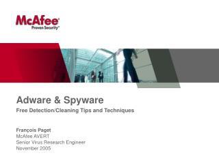 Adware  Spyware