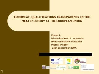EUROMEAT: QUALIFICATIONS TRANSPARENCY IN THE MEAT INDUSTRY AT THE EUROPEAN UNION